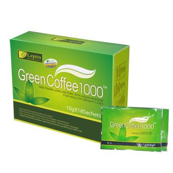 Leptin Green Coffee 1000 Kopi Diet Kopi Organik Pelangsing Original - 18 Sachets