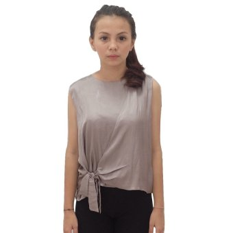 GeminiClothInc Cinta Top - Light Grey