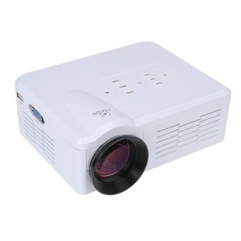 Flylinktech BL-35 Portable Mini LED Projector with USB SD VGA HDMI AV Multimedia for Party,Home Entertainment with Remote Control white (Intl)