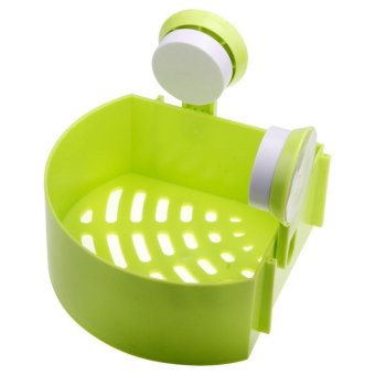 BUYINCOINS Lovely Bathroom Corner Storage Rack Organizer Shower Wall Shelf with Suction Cup