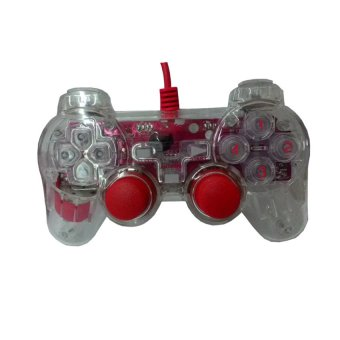 K-ONE Double Shock Controller Extream game - Stk - 8032LS - Merah