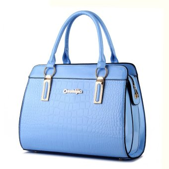 Women Messenger Bags Leather Handbag Shoulder Bag Crossbody Handbags Ladies blue - Intl