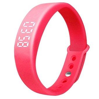 W5 USB Multi-functional Smart Wrist Band Bracelet with G-sensor / Pedometer / Data Memory / Sleep Monitor Red