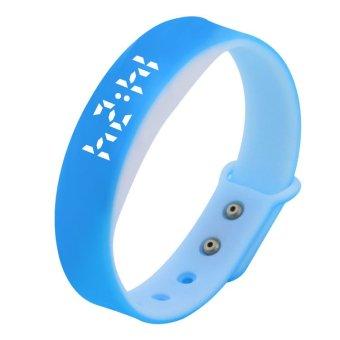 JTS W7 Bluetooth smart bracelet pedometer calories vibration alarm Fitness Tracker Sport Blue - Intl