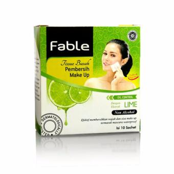 Fable Tissue Pembersih Make Up Lime Isi 10 Sachet [Hijau]