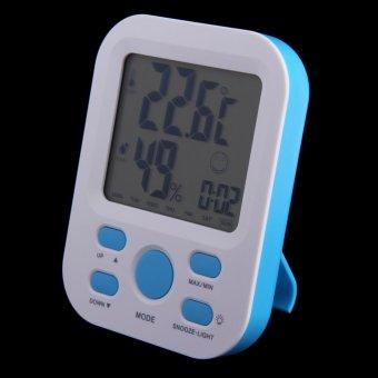 Humidity Temperature Tester Meter w/ Alarm Clock / Thermometer Hygrometer (Intl)