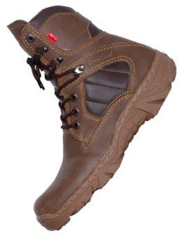 harga ZimZam Sepatu Delta Resleting PVC Brown Lazada.co.id