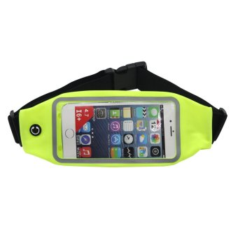 "Unisex Multi Function Outdoor Fitting Running Belt Chest Pouch Bum Waist Bag for 4.7"" iphone 6/6s(Green) - INTL"