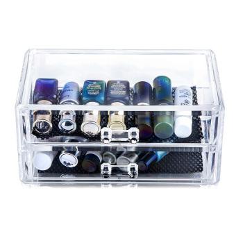 Clear Make Up Organiser Cosmetic Display Jewellery Drawers Storage Case (Intl)