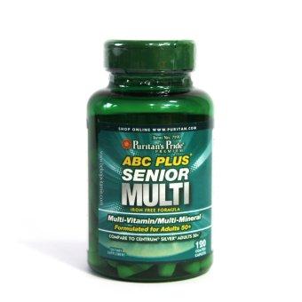 Puritan's Pride ABC Plus® Senior Multivitamin Multi-Mineral Formula - 120 Caplets