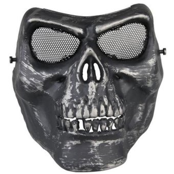 WiseBuy Tactical Airsoft Paintball CS War Game Full Face Protective Skull Skeleton Mask - Intl