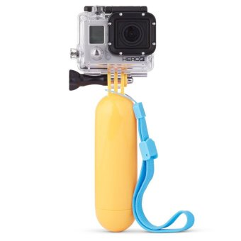 Beli Gopro Hero+LCD 2 3 3+ 4 Floating Hand Grip Handle Float Mount Accessory (Yellow)
