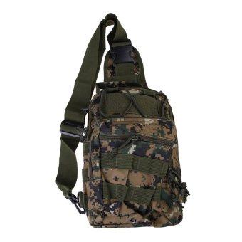 MEGA Men Shoulder Rucksack Backpack Outdoor Trekking Digital Woodland Camo - INTL