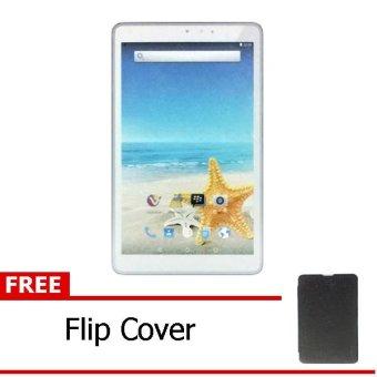 Advan Vandroid T3H - 8GB - Putih + Gratis Flipcover Hitam