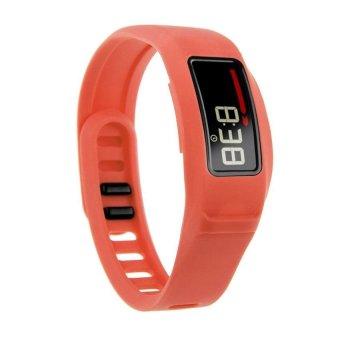 HKS New Replacement Silicone Strap Clasp Wrist Bracelet Band for Garmin Vivofit 2 Orange L - Intl