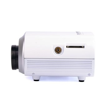 Mini Home Multimedia Cinema LED Projector HD 1080P Support AV TV VGA USB HDMI SD Proyector (White) (Intl)