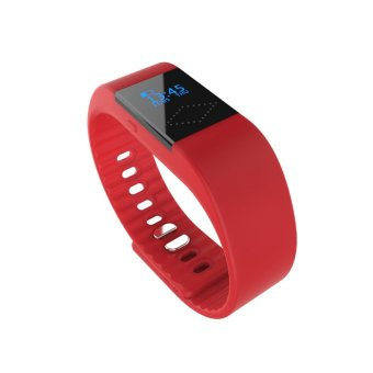 2016 Newest Smart Sport Bluetooth Watch Bracelet with Bluetooth 4.0 Remote Camera Waterproof Anti-lost Passometer Sleep Monitor For IOS and Android Phone (Red) (Intl)