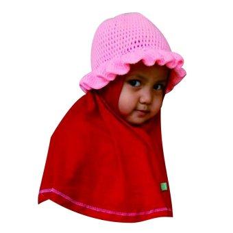 harga Basith Collection Syria Hatty Topi Rajutan Handmade [Merah] Lazada.co.id
