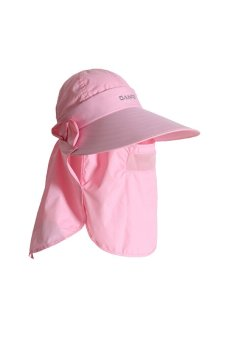 GAKTAI Women's Outdoor Multifunction Sunbonnet Sunhat Anti-UV Quick-Drying Cap Jungle Hat M12 (Pink) (Intl)