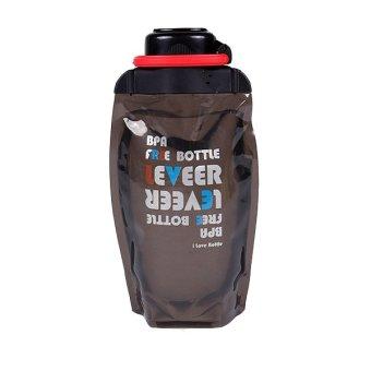 ZUBER foldaway water bottle 500ml-Black