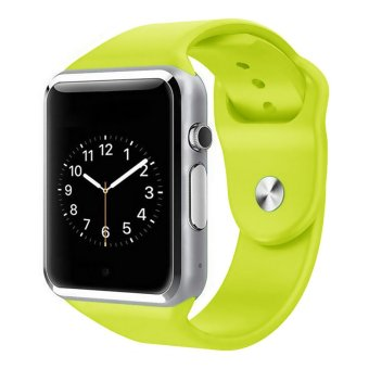 GoSport Bluetooth Smart Wrist Watch GSM SIM Card Camera Phone Mate For Android iphone (Green) (Intl)