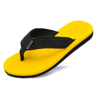 Men's Canvas Flip-Flop Slippers(Yellow) - INTL