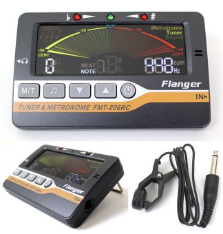 FLANGER FMT-206RC Tuner & Metronome with Tuning Microphone