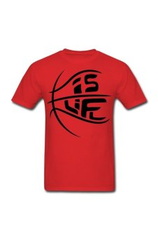Men's Ball is Life Graphic Tee Customize T-Shirt (Red) - Intl