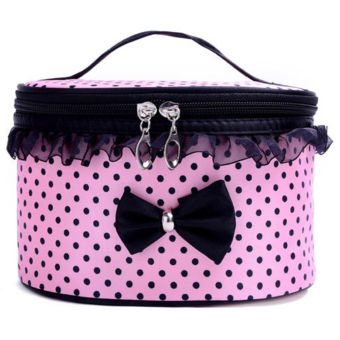 Women Multifunction Travel Cosmetic Bag Makeup Case Pouch Toiletry Organizer NEW Pink - Intl