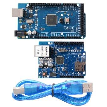 XCSource ATmega2560-16AU ATMEGA16U2 Board + Ethernet Shield W5100 Network Expansion TE168 - Intl
