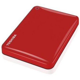 Toshiba HDD External Canvio Connect II USB 3.0 1 TB - Back Up Software - Merah