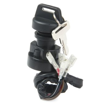 Ignition Key Switch for Polaris Trall Boss 250 1993 1994 1995 ATV (BLACK) - Intl