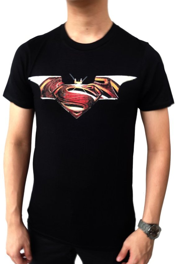 harga Elfs Shop - Kaos Superman Batman - Hitam Lazada.co.id