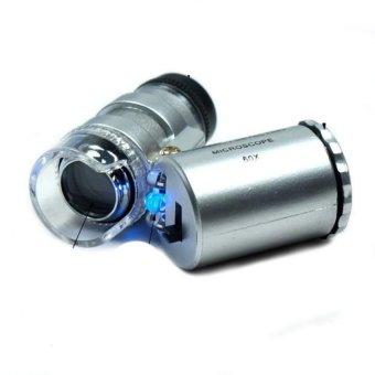 Universal Mikroskop Batu Akik 60x Zoom - Silver