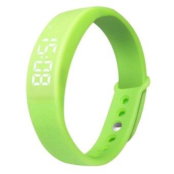 W5 USB Multi-functional Smart Wrist Band Bracelet with G-sensor / Pedometer / Data Memory / Sleep Monitor Green