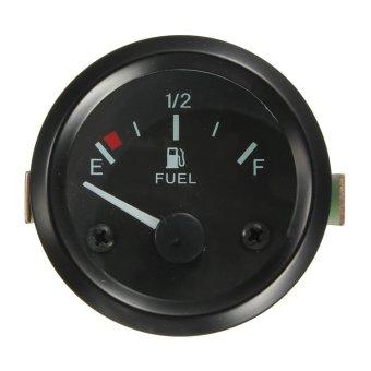 2inch 52mm Universal Car Fuel Level Gauge Meter With Fuel Sensor E-1/2-F Pointer (Intl)
