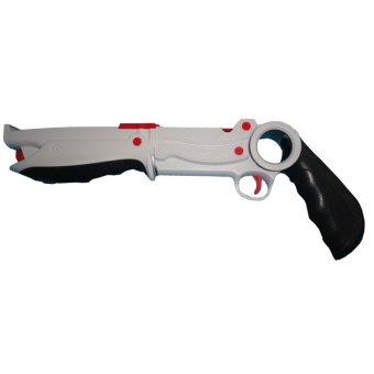 Plastic Dual Rifle Light Gun for Nintendo Wii Remote Nunchuck Shooting Game (Intl)