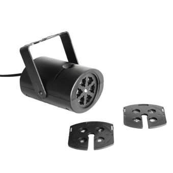 Gobo Stage light with changeable Multi-pattern cards, , RGBW,US Plug (Intl)