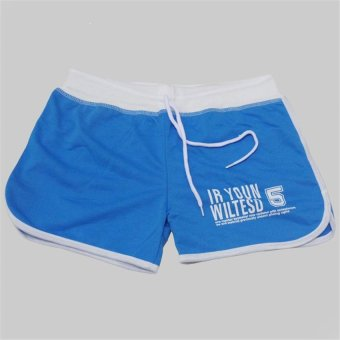 Fasion Sports Recreational Thirds Full Printing Yoga Beach Shorts (Sky blue) - INTL