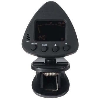 UJS Clip On Digital Tuner With MIC Acoustic Electric Guitar Bass Chromatic Metronome (Intl)