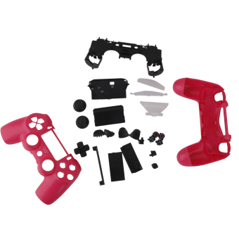 BolehDeals Full Housing Shell Case Button Kit for PS 4 Wireless Controller (Pink)