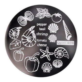 Round Nail Stamp Plate for Manicure Steel Image Tip Decal
