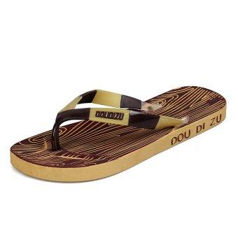 Men's Summer Sandals Flip Flops (Brown) (Intl)