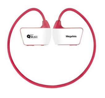 G02 16G Head-mounted Walkman With Wireless Bluetooth Headsets Design Portable MP3 Player (Red)(INTL)