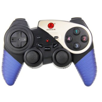 2.4G Wireless Game Controller For Computer Gamepad(Blue) - Intl