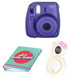 "harga Fujifilm Instax Camera Mini 8 (Grape) + Selfie Lens + Album 40 Photo ""Theme"" 51073 Lazada.co.id"