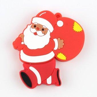 Santa Claus Shape U Disk USB 2.0 Flash Memory 16GB (Red) - Intl