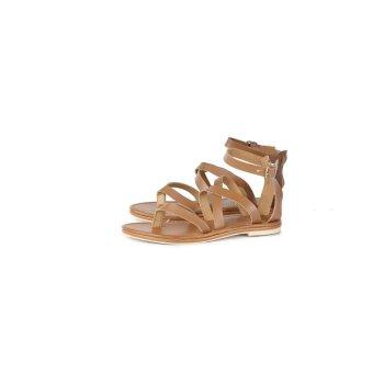 harga Lagenza Casual Sepatu Sandal Trendy Wanita Lgr 443 [Coklat] Lazada.co.id