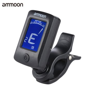 ammoon AT-07 Digital Electronic Clip-On Tuner LCD Screen for Guitar Chromatic Bass Ukulele C/ D Violin (Intl)