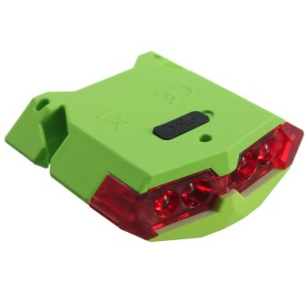 Cycling Bicycle Bike 4 LED Head Front Rear Tail light USB Rechargeable 4 Modes- Intl